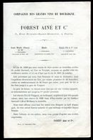 Vieux Papiers - Prix Courant Des Vins De  Bourgogne En 1882 - Vieux Papiers