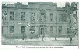 1916, Ireland, Rebellion, Liberty Hall After Bombardment. Printed Pc, Unused. - Dublin