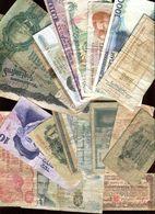 Billets - Lot De 20 Billets étrangers Tous états Voir Les 6 Scans - Coins & Banknotes