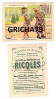 CHROMO RICQLES LES PROVERBES SIGNE H GERBAULT (TEL MAITRE TEL VALET) - Trade Cards