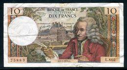 Billets - Voltaire  De 1970 2 Trous , Froissé Et Petites Déchirures , Billet Non Lavé , Craquant - 1962-1997 ''Francs''
