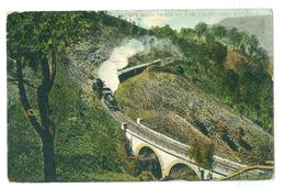 1912, Australia, 'Sydney Mail Train On The Toowoomba Range.' Printed Pc, Used To UK. - Towoomba / Darling Downs
