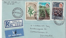 RODHESIE DU SUD 1963 LETTRE RECOMMANDEE DE RAYLTON - Southern Rhodesia (...-1964)