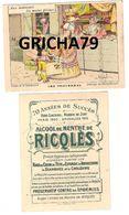 CHROMO RICQLES LES PROVERBES SIGNE H GERBAULT (AUX INNOCENTS LES MAINS PLEINES) - Trade Cards
