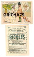 CHROMO RICQLES LES PROVERBES SIGNE H GERBAULT (QUI N ENTEND QU UNE CLOCHE N ENTEND QU UN SON) - Trade Cards