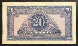 Austria 20 SCHILLING 1944 Allied Military P 107  Lotto 1982 - Austria