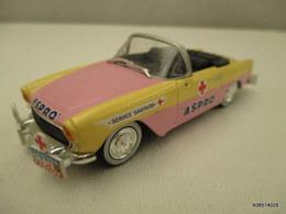 Voiture Miniature 1/43 Em NOREV SIMCA OCEANE Caravane Du Tour De France Peinture D Origine Rose Et Jaune Aspro Tb Etat - Toy Memorabilia