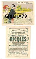 CHROMO RICQLES LES PROVERBES SIGNE H GERBAULT (CHACUN PREND SON PLAISIR OU IL LE TROUVE) - Trade Cards