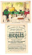 CHROMO RICQLES LES PROVERBES SIGNE H GERBAULT (QUI A BU BOIRA) - Trade Cards