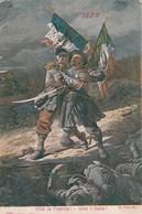 Militaria : Patriotiques : Viva La Francia ! - Vive L'italie ! ( Alterocca-terni ) Colorisée - Patriotic