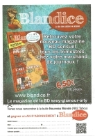 BD - Flyer - Blandice N° 1 : La BD Sans Dessus Ni Dessous... Magazine... Sexy-glamour-arty [Angoulême, Janvier 2017] - Bücher, Zeitschriften, Comics