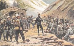 Militaria : ITALIE :  Les Italiens à La Bataille Du Carso  ( Aout 1915 ) Colorisée - Guerre 1914-18