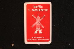 Playing Cards / Carte A Jouer / 1 Dos De Cartes Avec Publicité /  Koffie 't Molentje - R. Vermeersch, Langemark - Other