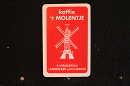 Playing Cards / Carte A Jouer / 1 Dos De Cartes Avec Publicité /  Koffie 't Molentje - R. Vermeersch, Langemark - Cartes à Jouer
