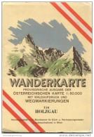114 Holzgau 1952 - Wanderkarte Mit Umschlag - Provisorische Ausgabe Der Österreichischen Karte 1:50.000 - Herausgegeben - Mapamundis