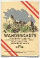 115 Reutte 1952 - Wanderkarte Mit Umschlag - Provisorische Ausgabe Der Österreichischen Karte 1:50.000 - Herausgegeben V - Mapamundis