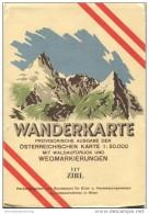 117 Zirl 1947 - Wanderkarte Mit Umschlag - Provisorische Ausgabe Der Österreichischen Karte 1:50.000 - Herausgegeben Vom - Mapamundis
