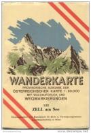 123 Zell Am See 1950 - Wanderkarte Mit Umschlag - Provisorische Ausgabe Der Österreichischen Karte 1:50.000 - Herausgege - Maps Of The World