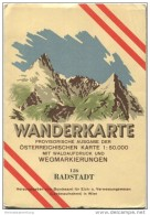126 Radstadt 1947 - Wanderkarte Mit Umschlag - Provisorische Ausgabe Der Österreichischen Karte 1:50.000 - Herausgegeben - Landkarten