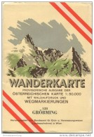 128 Gröbming 1953 - Wanderkarte Mit Umschlag - Provisorische Ausgabe Der Österreichischen Karte 1:50.000 - Herausgegeben - Landkarten
