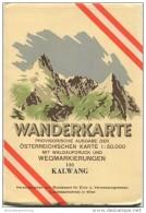 131 Kalwang 1953 - Wanderkarte Mit Umschlag - Provisorische Ausgabe Der Österreichischen Karte 1:50.000 - Herausgegeben - Landkarten