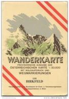 135 Birkfeld 1955 - Wanderkarte Mit Umschlag - Provisorische Ausgabe Der Österreichischen Karte 1:50.000 - Herausgegeben - Mapamundis
