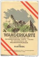 136 Hartberg 1955 - Wanderkarte Mit Umschlag - Provisorische Ausgabe Der Österreichischen Karte 1:50.000 - Herausgegeben - Landkarten