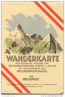 138 Rechnitz 1956 - Wanderkarte Mit Umschlag - Provisorische Ausgabe Der Österreichischen Karte 1:50.000 - Herausgegeben - Maps Of The World