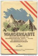 147 Axams 1947 - Wanderkarte Mit Umschlag - Provisorische Ausgabe Der Österreichischen Karte 1:50.000 - Herausgegeben Vo - Landkarten