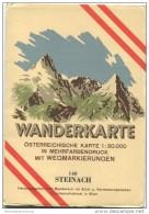 148 Steinach 1950 - Wanderkarte Mit Umschlag - Österreichischen Karte 1:50.000 - Herausgegeben Vom Bundesamt Für Eich- U - Maps Of The World
