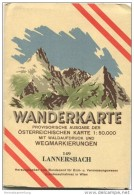 149 Lannersbach 1947 - Wanderkarte Mit Umschlag - Provisorische Ausgabe Der Österreichischen Karte 1:50.000 - Herausgege - Landkarten