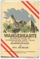 150 Zell Am Ziller 1952 - Wanderkarte Mit Umschlag - Provisorische Ausgabe Der Österreichischen Karte 1:50.000 - Herausg - Landkarten