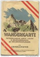 153 Groszglockner 1948 - Wanderkarte Mit Umschlag - Österreichischen Karte 1:50.000 - Herausgegeben Vom Bundesamt Für Ei - Maps Of The World