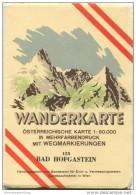 155 Bad Hofgastein 1956 - Wanderkarte Mit Umschlag - Österreichischen Karte 1:50.000 - Herausgegeben Vom Bundesamt Für E - Landkarten