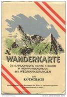 197 Kötschach 1953 - Wanderkarte Mit Umschlag - Österreichischen Karte 1:50.000 - Herausgegeben Vom Bundesamt Für Eich- - Maps Of The World