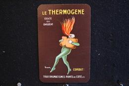 Playing Cards / Carte A Jouer / 1 Dos De Cartes Avec Publicité /  Le Thermogene, Combat Toux Rhumatismes Points De Cote - Cartes à Jouer