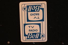 Playing Cards / Carte A Jouer / 1 Dos De Cartes Avec Publicité /  TV - Radio, Bell. - Cartes à Jouer