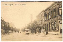 Bourg-Léopold - Rue De La Station 1928 (Geanimeerd) - Leopoldsburg