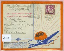 BRIEFOMSLAG Uit 1937 Per LP Gelopen Van BALIKPAPAN Via BATAVIA NED. INDIE Naar JOURE  (11.227) - Niederländisch-Indien