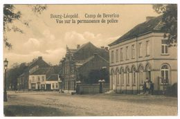 Bourg-Léopold - Vue Sur La Permanence De Police 1914 (Geanimeerd) - Leopoldsburg