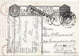 Ww2 Prigionieri Di Guerra - Italia - Corrispondenza Da Campo Concentramento Nr. 32 Bogliaco Per Belgrado - Serbia - Prigione E Prigionieri