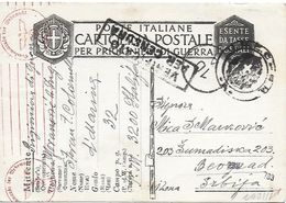 Ww2 Prigionieri Di Guerra - Italia - Corrispondenza Da Campo Concentramento Nr. 32 Bogliaco Per Belgrado - Serbia - Bagne & Bagnards