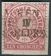 NDP 1 Gr Freimarke, Michel 16, Gestempelt Bahnpost? (1-614) - Norddeutscher Postbezirk