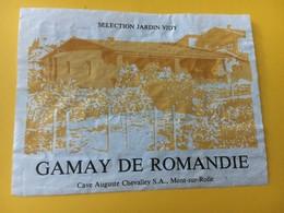 8604 - Gamay De Romandie Suisse Selection Jardin Vidy - Etiquettes