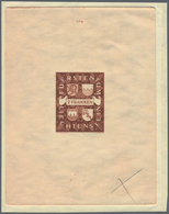 """01536 Liechtenstein: 1939. Lot Mit 2 Einzelabzügen Für Die Beiden Freimarken """"2fr Wappen Der Grafen Von Ho - Covers & Documents"""