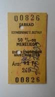 W508.18  Railway -Train - Edmondson Ticket -  Hungary  SARKAD - Railway