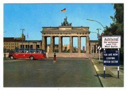 Cards AA71 Germany 1960th Mint Berlin Brandenburg Gate - Unclassified