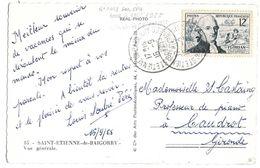 SUR CPA...N° 1021...DATE 16  SEPTEMBRE 1955...RETIRE LE 30   AOUT 1955.TARIF TARDIF...TBE. - Marcophilie (Lettres)