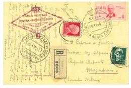 ITALIA 1934 - VOLO POSTA AEREA SPECIALE - ROMA MOGADISCIO SASS PA 83  CARTOLINA- - 1900-44 Victor Emmanuel III.