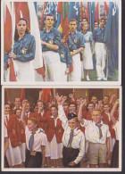 Youth Of The World Wants Peace, Jugend Der Welt Will Den Frieden,  2 Cards Pioniere FDJ Propaganda Tschechoslowakei - Demonstrations